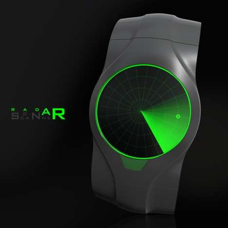 Radar-Inspired Wristwatches- The Sonar Watch Tracks Time and Enemy Submarines
