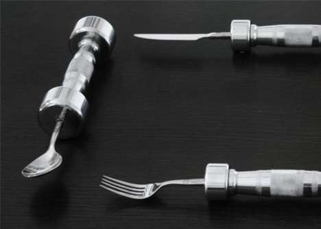 Exercise-Inspired Eating Utensils