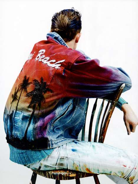 Airbrushed Denim Depictions