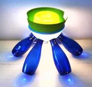 Glowing PET Bottle Art