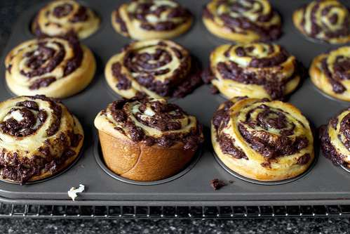 Sweetly Spiralled Dessert Buns