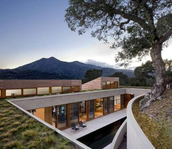 Hillside Wooden Mansions