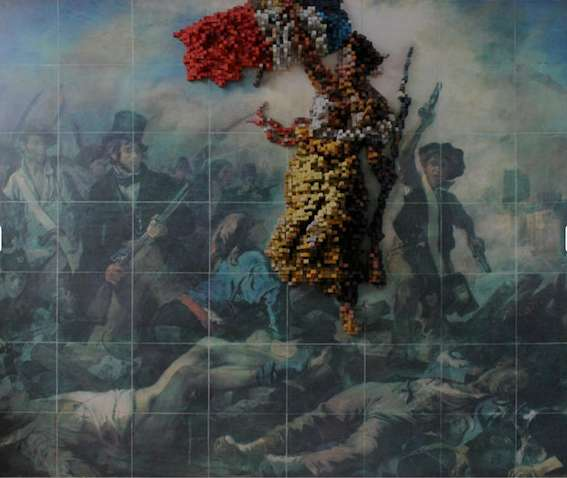 3D pixellised works of art
