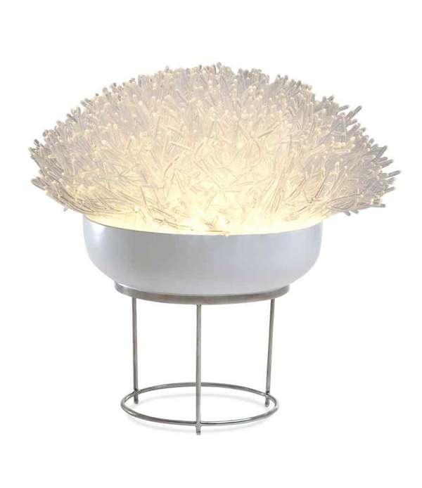 Anemone inspired lamp