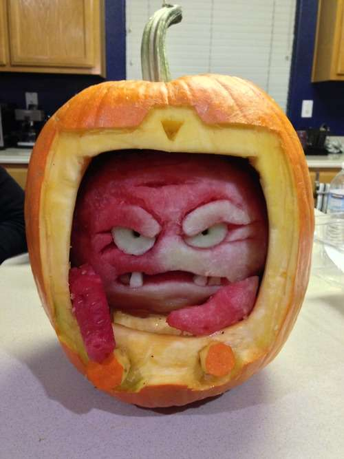 Cartoon Villain Pumpkin Carvings