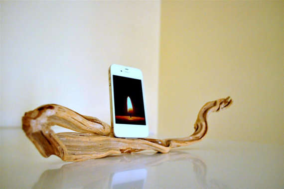 Natural Wood iPhone Docking Stations