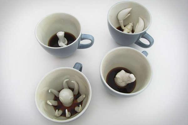 Preciously Hidden Creature Mugs