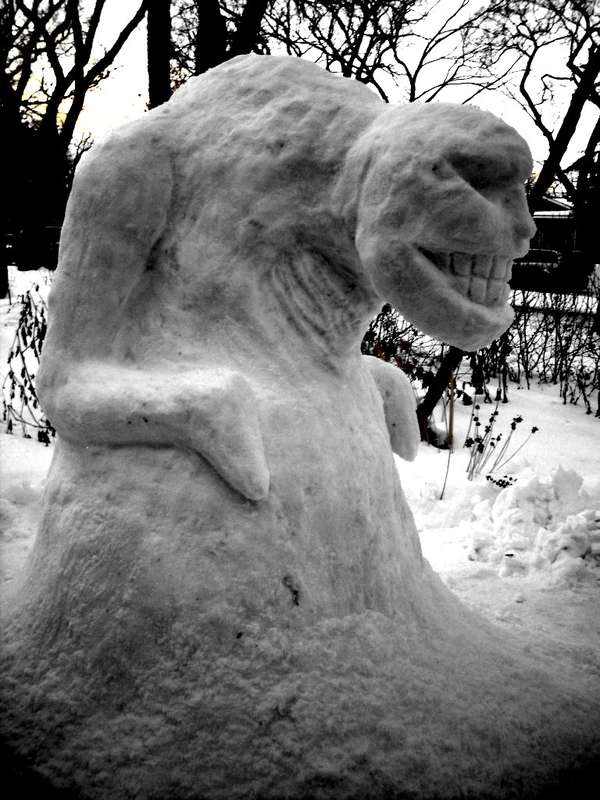 Gaming Monster Snow Sculptures