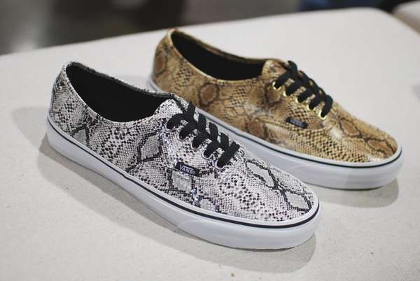 Slithery Textured Sneakers