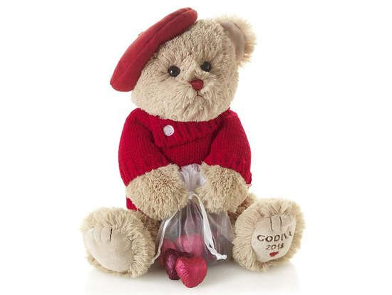 Chocolate Bearing Stuffed Teddies