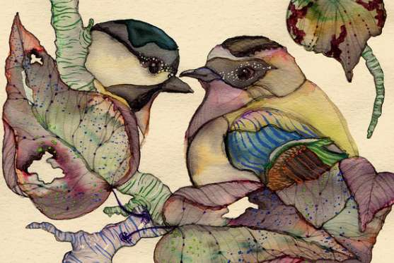 Romantic Chirping Critter Prints