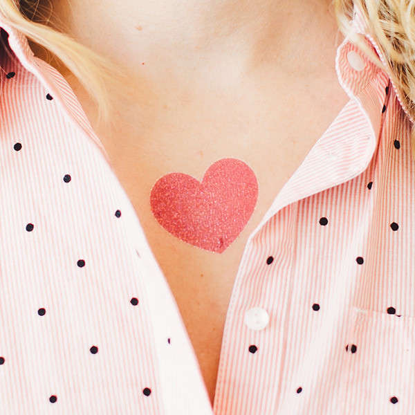 Unisex Heart Transfers