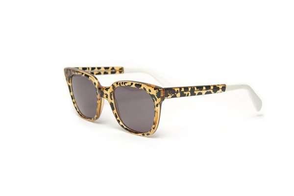 Leopard Wayfarer Sunglasses