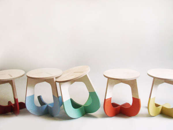Self-Assembled Rocking Stools
