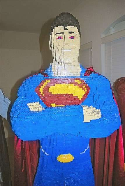 Toy Brick Men of Steel