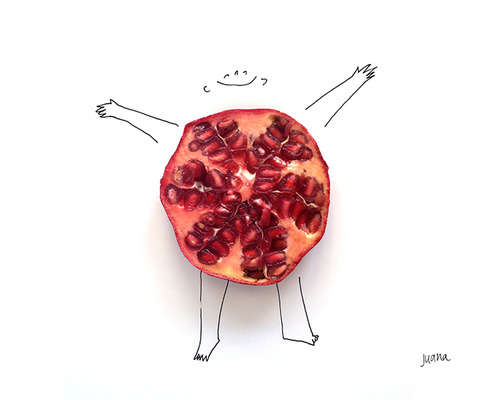 Fruit-Infused Illustrations
