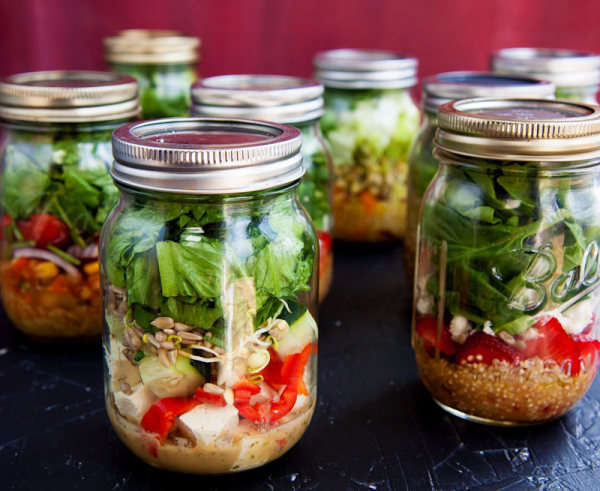 DIY Salad In A Jar