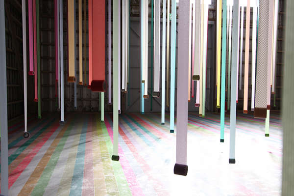 Vibrant Masking Tape Forests