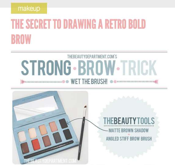Retro Eyebrow Tutorials