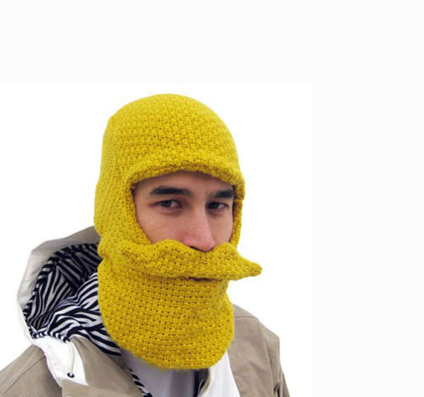 Quirky Knitted Beard Caps