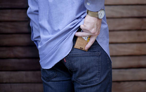 Minimal wallet made from Cork