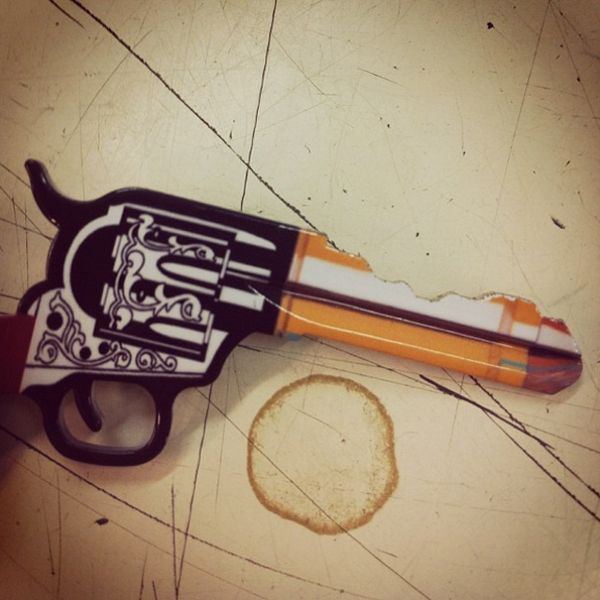Western-Inspired Pistol Keys