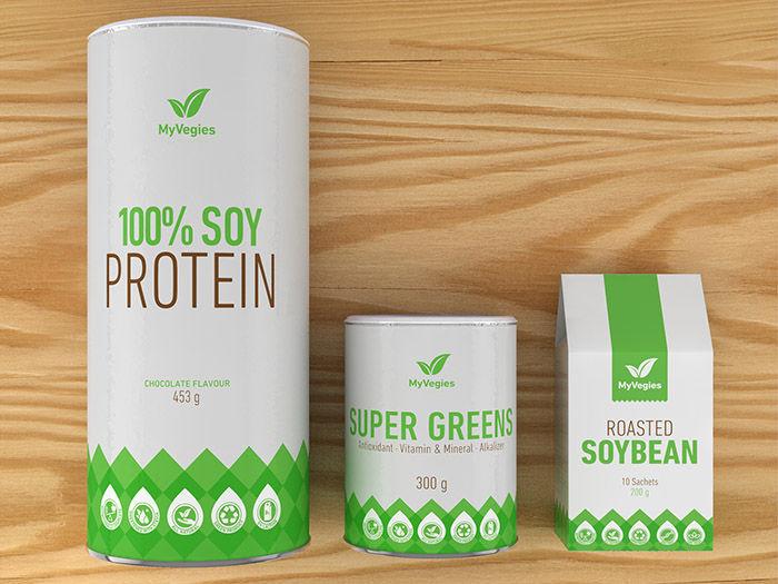 Minimalist Vegetarian Branding