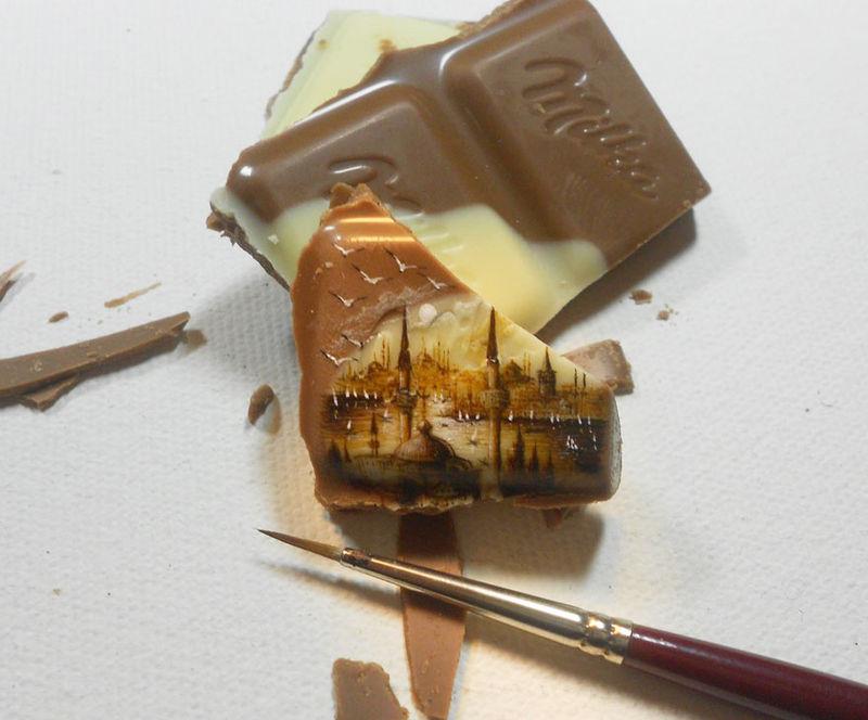Minuscule Food Paintings