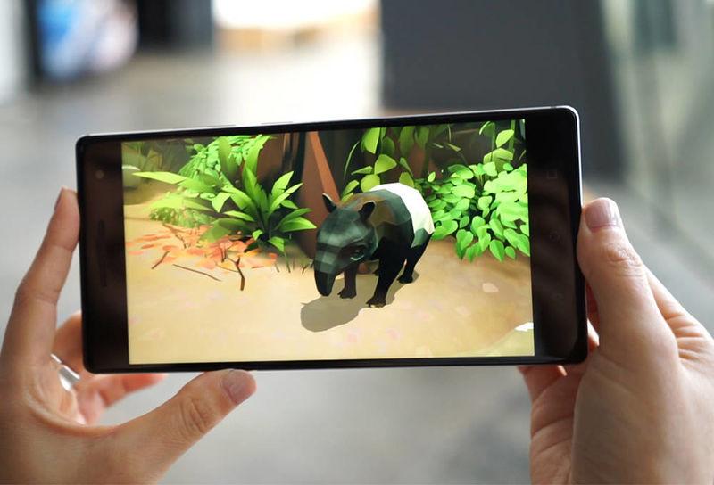 Augmented Reality in ArtScience Museum, Singapore. Image: ArtScience Museum