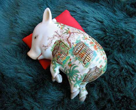 Adopt a ceramic sleeping pig
