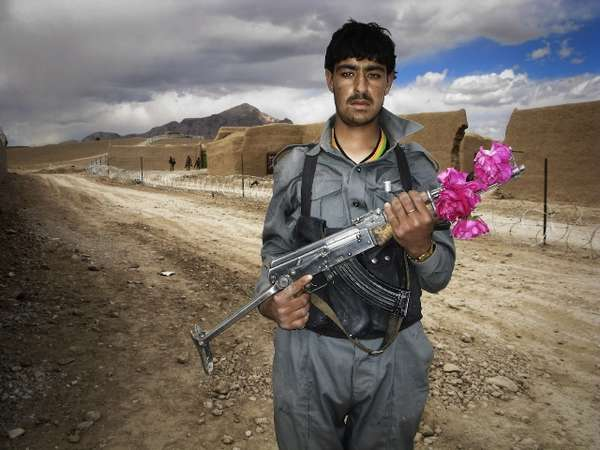 Afghan National Police and British Army on Film